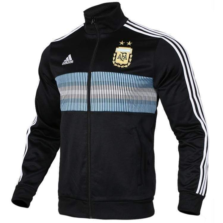 Adidas Men/'s AFA Argentina 3 Stripes Track Jacket BLK//White CE6654