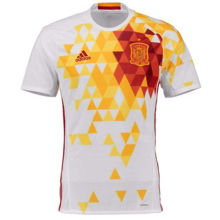 Jerseys / Soccer: Adidas National Team Euro 2016 Spain (A) S/s Aa0830 - Adidas / S / White / 2016 Adidas Away Kit Clothing Jerseys |
