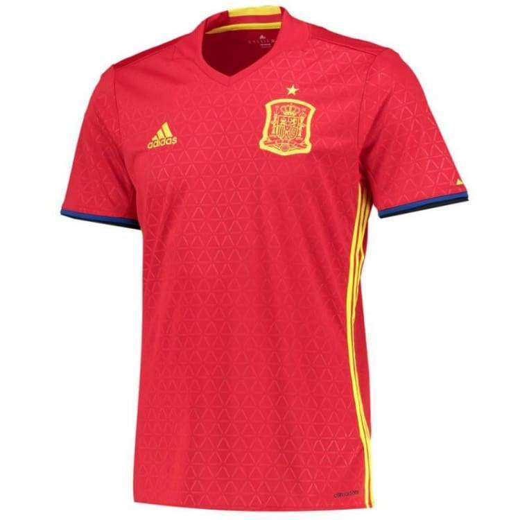 Jerseys / Soccer: Adidas National Team Euro 2016 Spain (H) S/s Ai4411 - Adidas / Xs / Red / 2016 Adidas Clothing Home Kit Jerseys |