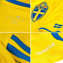 Jerseys / Soccer: Adidas National Team Euro 2016 Sweden (H) S/s Ai4748 [With Name Print #10 Ibrahimovic] - 2016 Adidas Clothing Home Kit