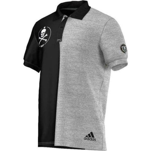 Polos / Short Sleeve: Adidas Orlando Pirates Polo Black S16935 - Adidas / S / Black/grey / Adidas Black/grey Clothing Land Lifestyle |