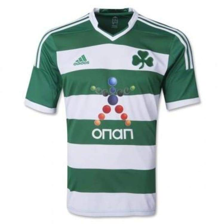 Jerseys / Soccer: Adidas Panathinaikos F.c 13/14 Home S/s Jersey G76657 - Adidas / S / Green / 1314 Adidas Clothing Green Home Kit |