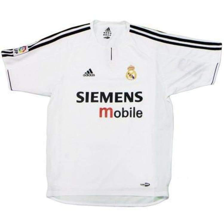 Jerseys / Soccer: Adidas Real Madrid 03/04 (H) Player S/s 913870 - Adidas / M / White / 0304 Adidas Clothing Home Kit Jerseys |