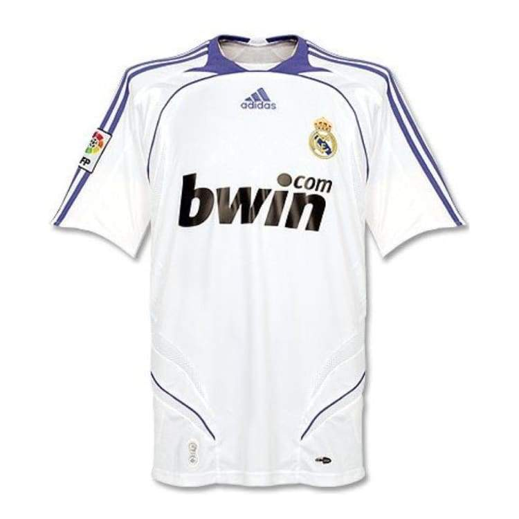 Jerseys / Soccer: Adidas Real Madrid 07/08 (H) S/s - Adidas / Xl / White / Purple / 0708 Adidas Clothing Home Kit Jerseys |