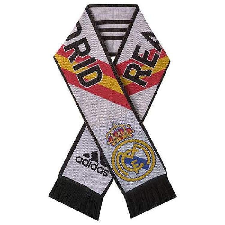 Neckwear / Scarves: Adidas Real Madrid 14/15 3S Scarf Wht/bk M60184 - Adidas / White / 1415 Accessories Adidas Fans Wear Head & Neck Wear |