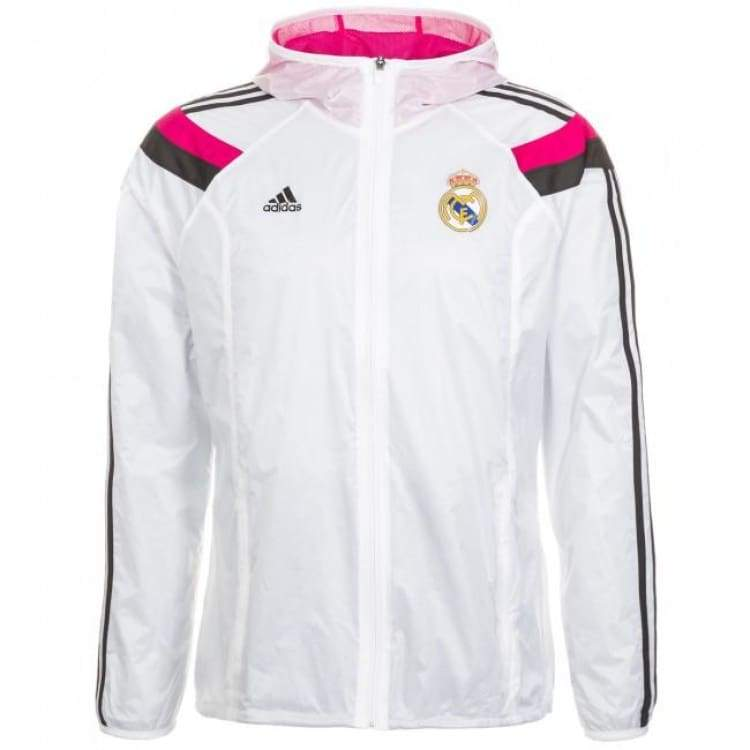 Jackets / Track: Adidas Real Madrid 14/15 Anthem Jacket Wht/bk/pk F85659 - Adidas / Xl / White / 1415 Adidas Clothing Jackets Jackets /