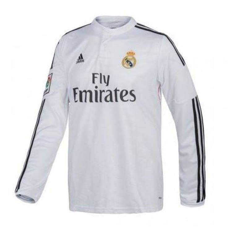 Jerseys / Soccer: Adidas Real Madrid 14/15 (H) L/s F49660 - Adidas / Xl / White / 1415 Adidas Clothing Home Kit Jerseys |
