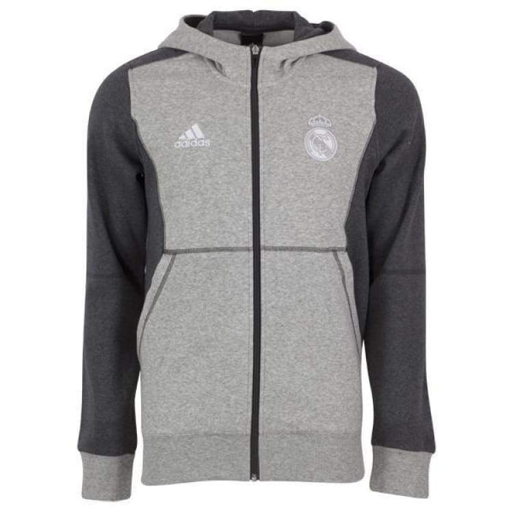 Hoodies & Sweaters: Adidas Real Madrid 15/16 Full Zip Hoodie Aa6880 - Adidas / S / Grey / 1516 Adidas Clothing Grey Hoodies & Sweaters |