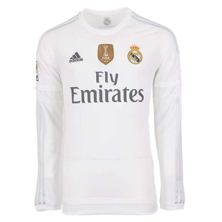 Jerseys / Soccer: Adidas Real Madrid 15/16 (H) L/s Ak2495 - Adidas / S / White / 1516 Adidas Clothing Home Kit Jerseys |