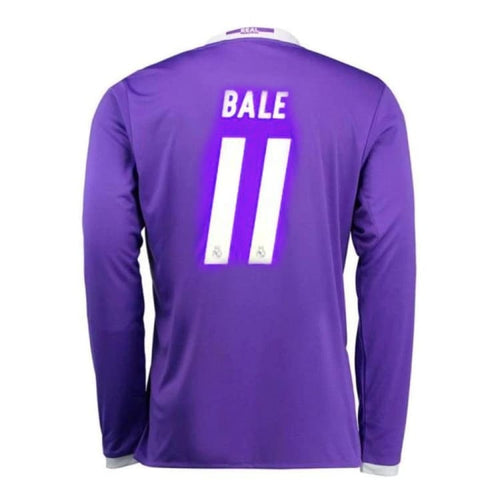 Jerseys / Soccer: Adidas Real Madrid 16/17 (A) L/S Jersey (#11 BALE) AI5159 - adidas / S / Purple / 1617,Adidas,Away Kit,Clothing,Jerseys |