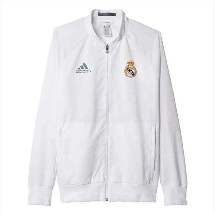 Jackets / Track: Adidas Real Madrid 16/17 Anthem Woven Jacket Ai4661 - Adidas / S / White / 1617 Adidas Clothing Jackets Jackets / Track |