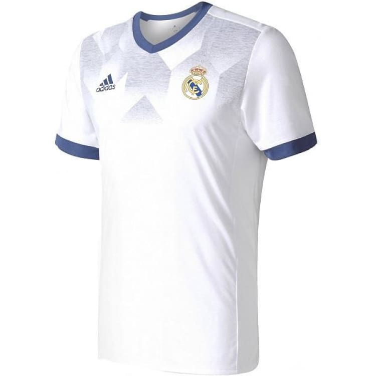 Jerseys / Soccer: Adidas Real Madrid 16/17 (H) Pre-Shirt Bp9169 - L / White / Blue / Adidas / 2017 Adidas Clothing Jerseys Jerseys / Soccer