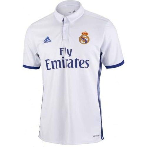 Jerseys / Soccer: Adidas Real Madrid 16/17 (H) S/s Youth Jersey Ai5189 - Adidas / Kids: 128 / White / 1617 Adidas Clothing Football Home Kit