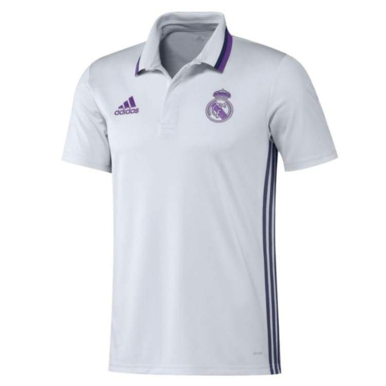 Polos / Short Sleeve: Adidas Real Madrid 16/17 Polo Wht Ao3070 - Adidas / Xs / White / 1617 Adidas Clothing Fans Wear Land |