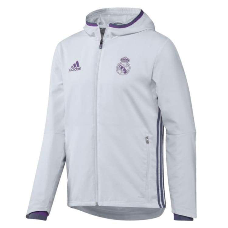 Jackets / Track: Adidas Real Madrid 16/17 Pre Jacket White Ao3092 - Xl / White / Adidas / 1617 Adidas Clothing Jackets Jackets / Track |