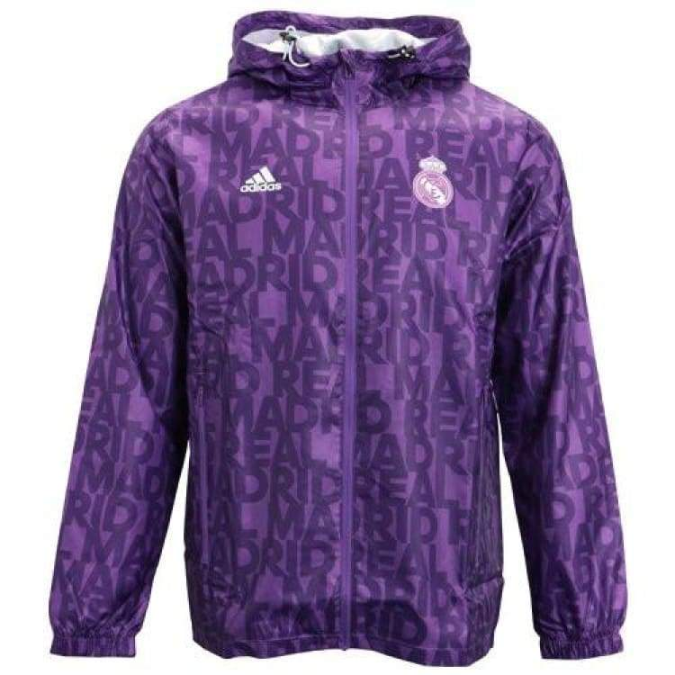 Jackets / Windbreaker: Adidas Real Madrid 16/17 Windbreaker Purple Ay2826 - Adidas / S / Purple / 1617 Adidas Clothing Jackets Jackets /