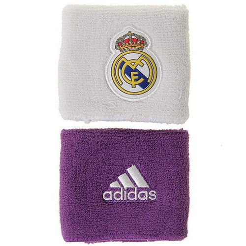 Sweat Bands: Adidas Real Madrid 16/17 Wristbands Wht-Pur S94901 - Adidas / White/purple / 1617 Accessories Adidas Football Land |