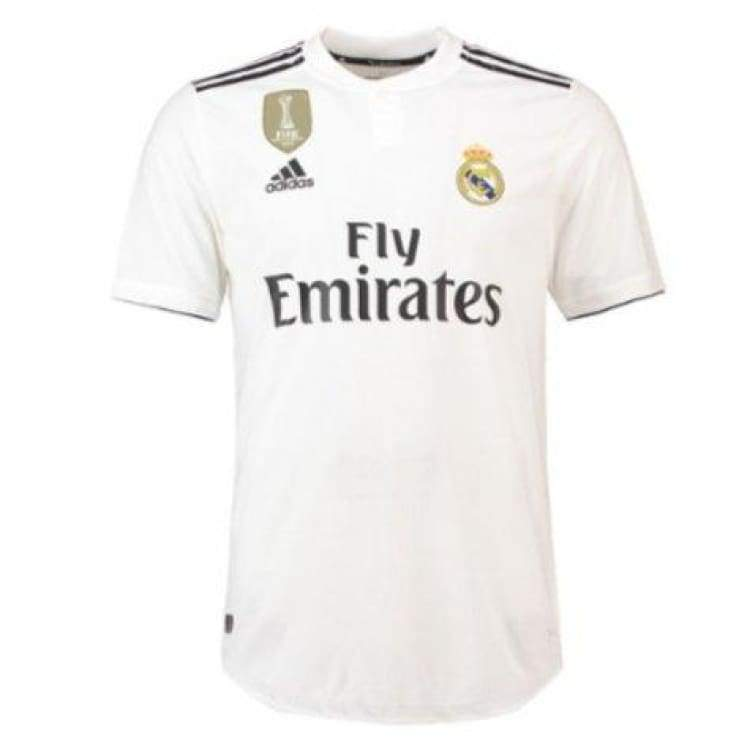 82b5e57975a Jerseys   Soccer  Adidas Real Madrid 18 19 Home Authentic S s Jersey