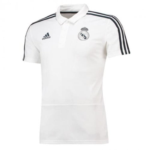 Polos / Short Sleeve: Adidas Real Madrid 18/19 Real Polo Cw8669 [Mens] - Adidas / S / White / 1819 Adidas Clothing Fans Wear Land |
