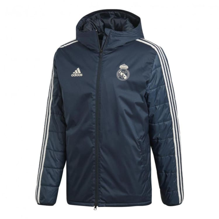 Jackets / Down & Insulated: Adidas Real Madrid 18/19 Winter Jacket CW8662 - XS / Black / adidas / 1819 Adidas Black Clothing Jackets |