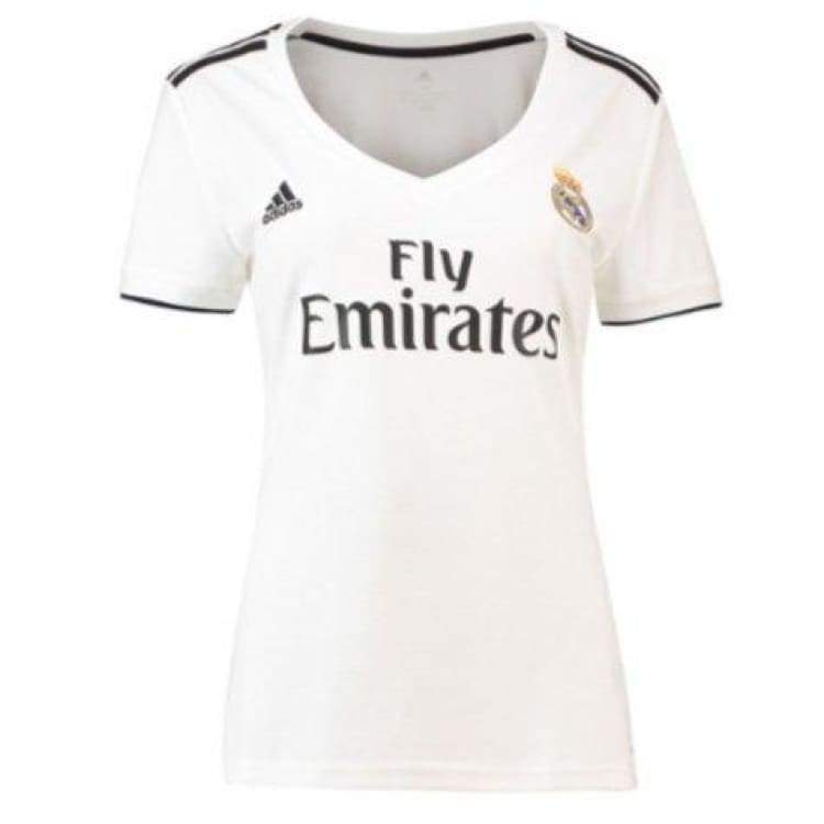 Jerseys / Soccer: Adidas Real Madrid 18/19 Women Home S/s Jersey Cg0545 - Adidas / Xs / White / 1819 Adidas Clothing Home Kit Jerseys |