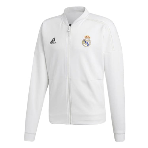 Jackets / Track: Adidas Real Madrid 18/19 Z.N.E. Jacket CY6098 - S / White / White / Adidas Clothing Football Home Kit Jackets |
