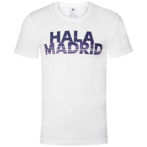 Tees / Short Sleeve: Adidas Real Madrid Graphic Tee Az5357 - Adidas / M / White / Adidas Clothing Fans Wear Land Mens |