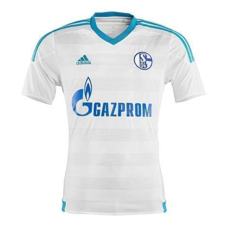 Jerseys / Soccer: Adidas Schalke 04 16/17 (A) S/s S12372 - Adidas / Xl / White / 1617 Adidas Away Kit Clothing Jerseys | Ochk-Sfalo-S12372-1