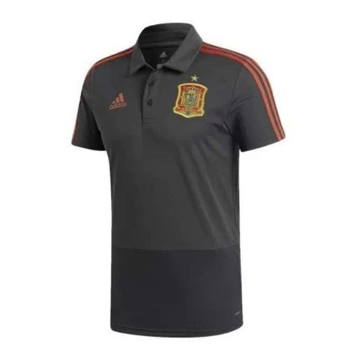 Polos / Short Sleeve: Adidas Spain 2018 Polo Shirt Ce8812 - Adidas / Xs / Grey / 2018 2018 Fifa World Cup 2018 World Cup Adidas Clothing |