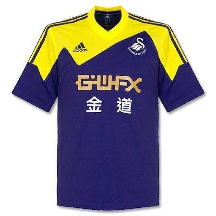 Jerseys / Soccer: Adidas Swansea City 13/14 (A) S/s F41381 - Adidas / S / Navy / Yellow / 1314 Adidas Away Kit Clothing Jerseys |