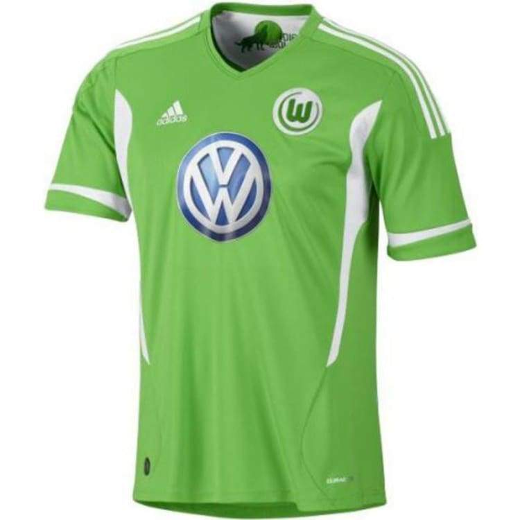Jerseys / Soccer: Adidas Wolfsburg 11/12 (H) S/s U37579 - Adidas / S / Green / 1112 Adidas Clothing Green Home Kit |