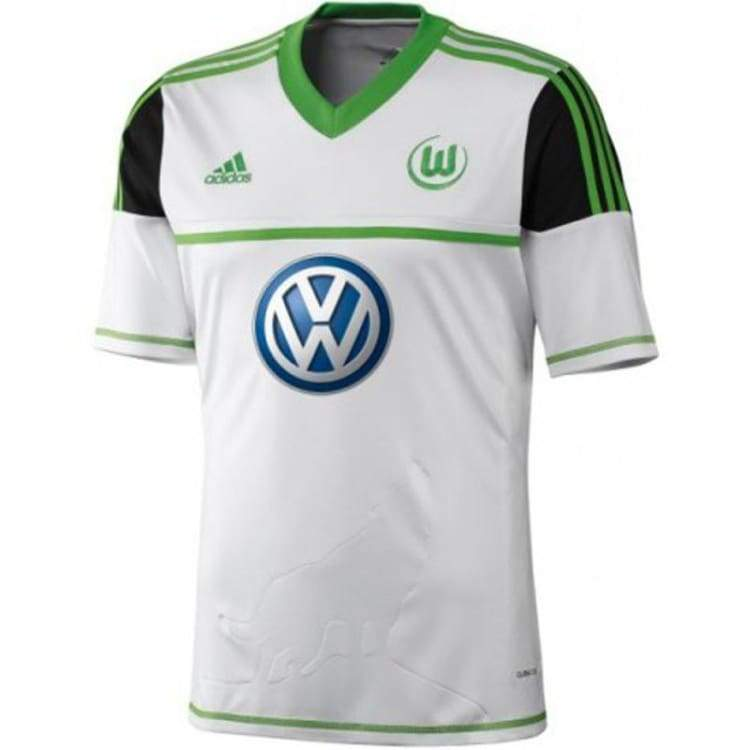 Jerseys / Soccer: Adidas Wolfsburg 12/13 (A) S/s W67469 - Adidas / S / White / 1213 Adidas Away Kit Clothing Jerseys |