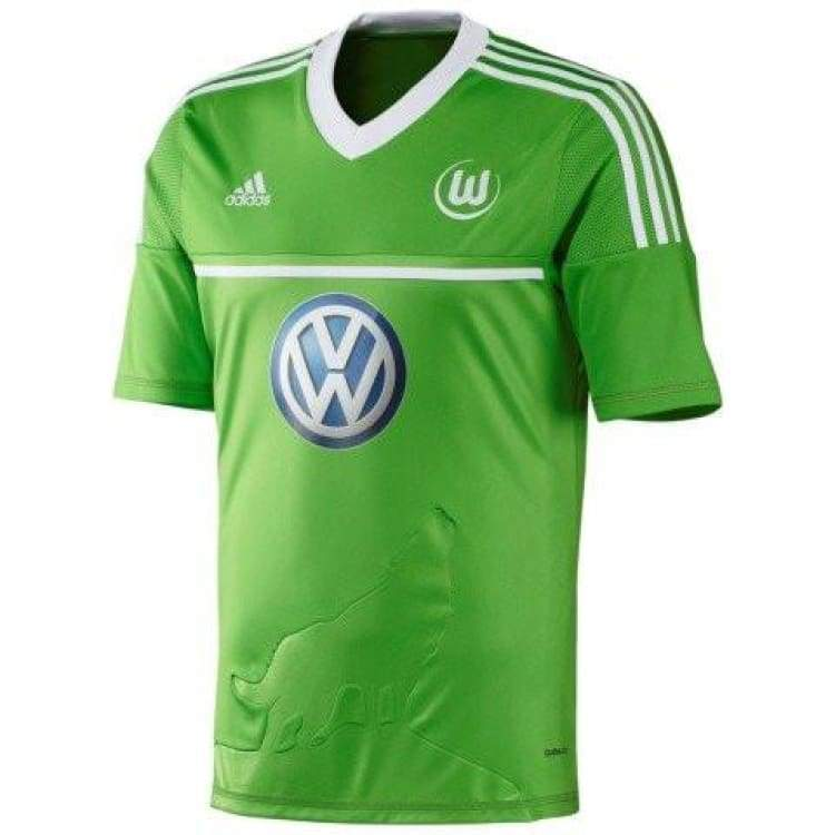 Jerseys / Soccer: Adidas Wolfsburg 12/13 (H) S/s W67467 - Adidas / S / Green / 1213 Adidas Clothing Green Home Kit |