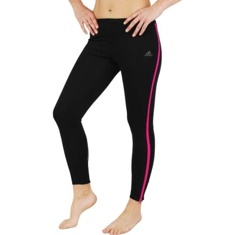16158800ad Adidas Women's Response Long Tights - Black/Shock Pink BR2458