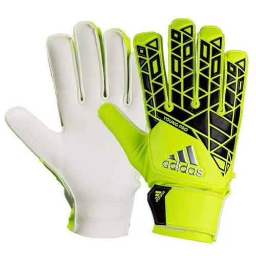 Gloves & Mittens / Soccer: Adidas Youth Junior Yong Pro Gk Gloves Yel-Blk Ap7006 - Adidas / 6 / Yellow / Accessories Adidas Football Gloves