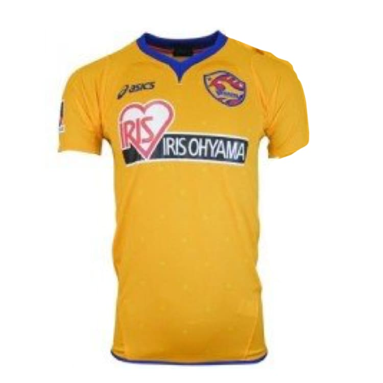 Jerseys / Soccer: Asics Vegalta Sendai 11/12 Home S/s Jersey Xs1071 - Asics / S / Yellow / 1112 Asics Clothing Football Home Kit |