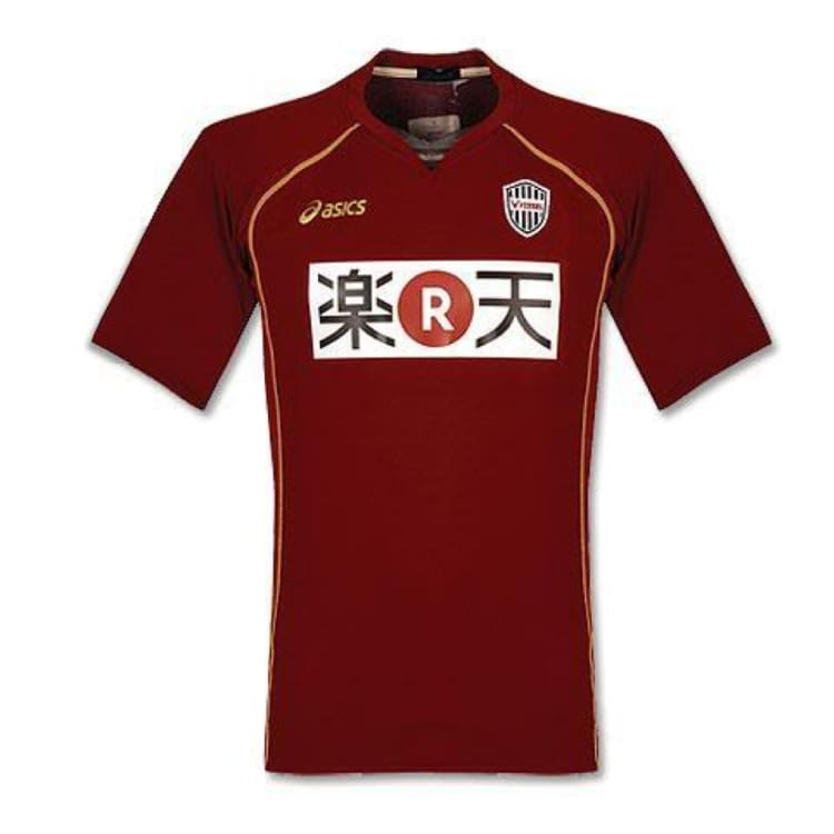 Jerseys / Soccer: Asics Vissel Kobe 10/11 (H) S/s - Asics / Jaspo: M / Red / 1011 Asics Clothing Football Home Kit |