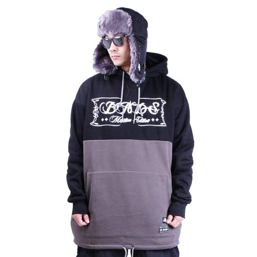 Hoodies & Sweaters: Badass 2Tone Hood - Black/charcoal - Badass / Black/charcoal / Xl / Badass Black/charcoal Clothing Hoodies & Sweaters