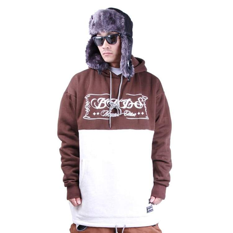 Hoodies & Sweaters: Badass 2Tone Hood - Brown/white - Badass / Brown/white / Xl / Badass Brown/white Clothing Hoodies & Sweaters Ice & Snow