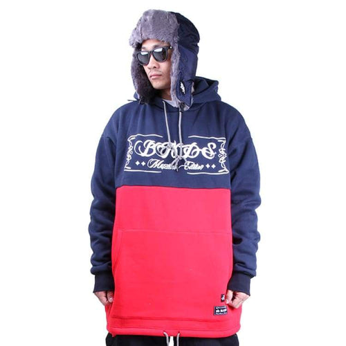 Hoodies & Sweaters: Badass 2Tone Hood - Navy/red - Badass / Navy/red / Xl / Badass Clothing Hoodies & Sweaters Ice & Snow Mens |