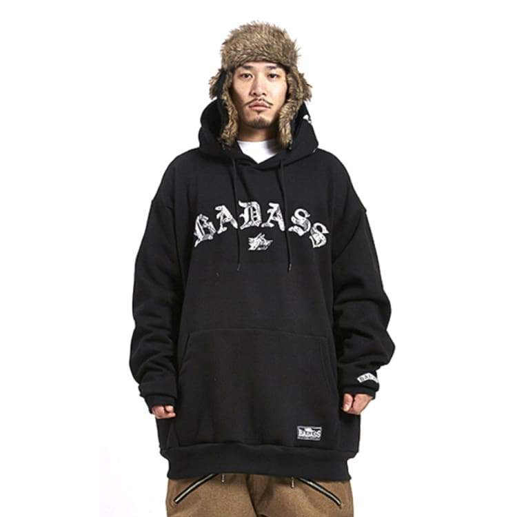 Hoodies & Sweaters: Badass Arch Snake Hood - Black - Badass / Black / Xlt / Badass Black Clothing Hoodies & Sweaters Ice & Snow |