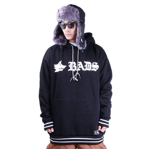 Hoodies & Sweaters: Badass Basic Rib Hood - Black - Badass / Black / Xl / Badass Black Clothing Hoodies & Sweaters Ice & Snow |