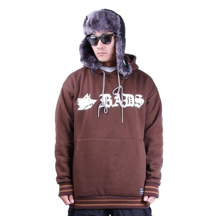 Hoodies & Sweaters: Badass Basic Rib Hood - Brown - Badass / Xl / Brown / Badass Brown Clothing Hoodies & Sweaters Ice & Snow |