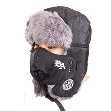 Headwear / Beanies: Badass Bomber Black With Mask - Accessories Badass Beanies Black Head & Neck Wear