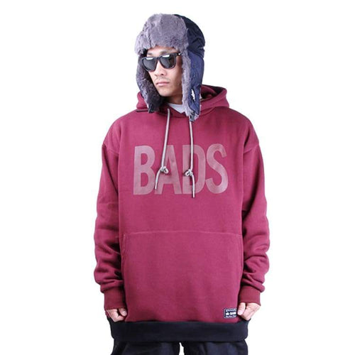 Hoodies & Sweaters: Badass Deep Hood - Burgundy - Badass / Burgundy / Xl / Badass Burgundy Clothing Hoodies & Sweaters Ice & Snow |