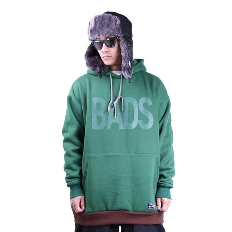 Hoodies & Sweaters: Badass Deep Hood - Moss - Badass / Moss / Xl / Badass Clothing Hoodies & Sweaters Ice & Snow Mens |