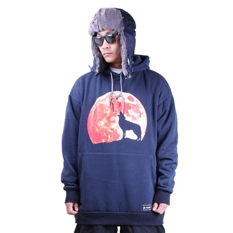 Hoodies & Sweaters: Badass Howl Hood - Navy - Badass / Navy / Xl / Badass Clothing Hoodies & Sweaters Ice & Snow Mens |