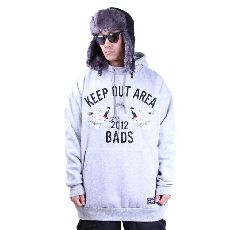Hoodies & Sweaters: Badass Jumper Hood - Grey - Badass / Grey / Xl / Badass Clothing Grey Hoodies & Sweaters Ice & Snow |