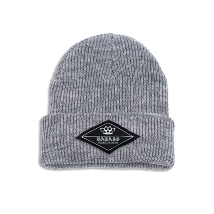 Headwear / Beanies: Badass Knuckle Beanie - 2Color - Badass / Grey / Accessories Badass Beanies Camel Grey | Ocjp-Yorozwagon-14Ba2605-Gry