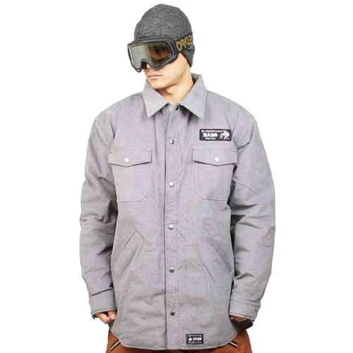 Jackets / Snow: Badass Rest Shirts Jacket - Grey - Badass / Grey / Xl / Badass Clothing Grey Ice & Snow Jackets |